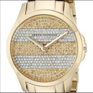 Armani exchange crystal pave watch